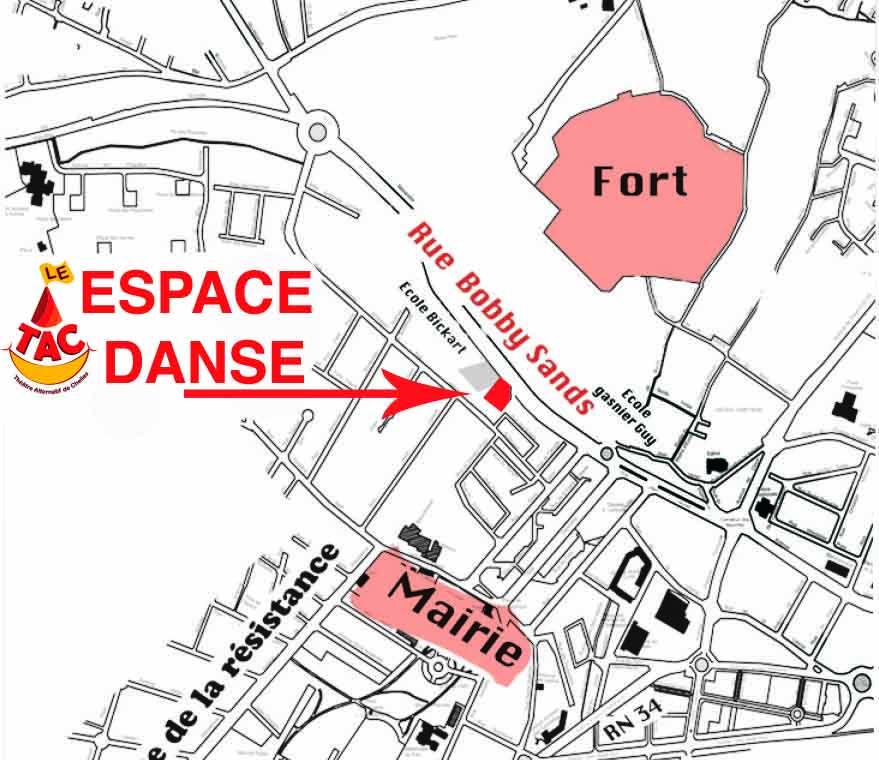 plan ESPACE DANSE